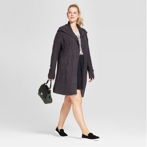A New Day Charcoal Gray Car Coat Cardigan Sweater